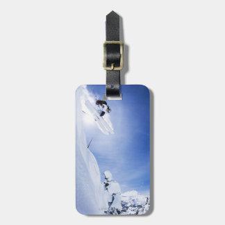 Skier Jumping Luggage Tag