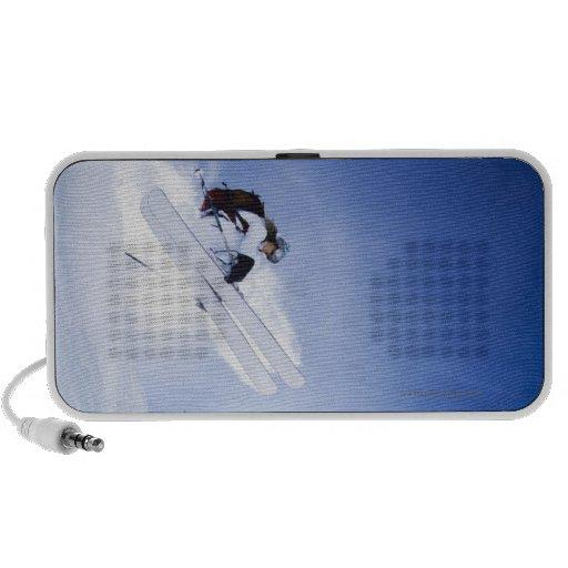 Skier Jumping Notebook Speaker