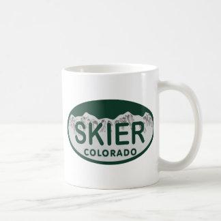 skier license oval mugs