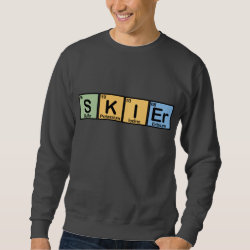 Men's Basic Sweatshirt with Skier design