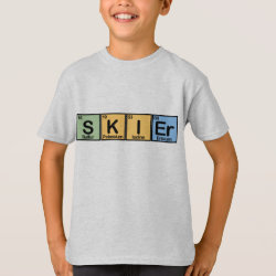 Kids' Hanes TAGLESS® T-Shirt with Skier design