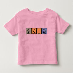 Toddler Fine Jersey T-Shirt with Skier design