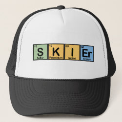 Trucker Hat with Skier design