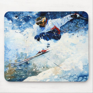 Skier Mouse Pad