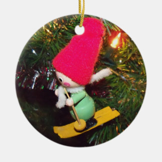 Skier Ornament