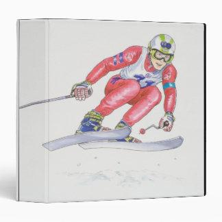 Skier Performing Jump 2 Binders