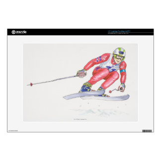 """Skier Performing Jump 2 Decal For 15"""" Laptop"""