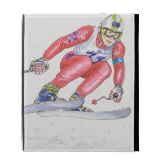 Skier Performing Jump 2 iPad Folio Cover