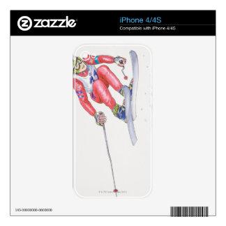 Skier Performing Jump 2 iPhone 4 Decals