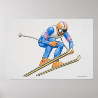 Skier Performing Jump 2 Poster