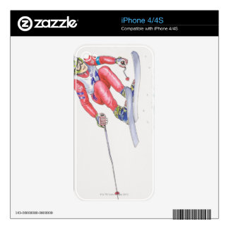 Skier Performing Jump 2 iPhone 4 Decals