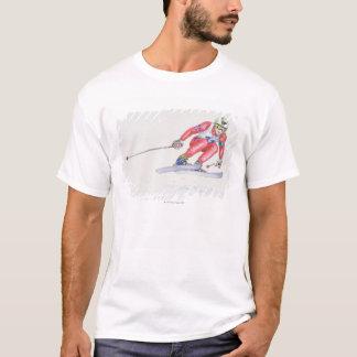 Skier Performing Jump 2 T-Shirt