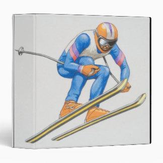 Skier Performing Jump Binders