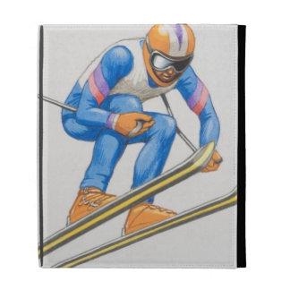 Skier Performing Jump iPad Folio Cover