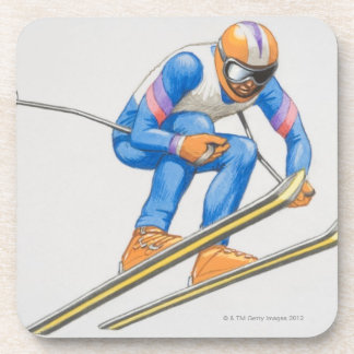 Skier Performing Jump Coaster