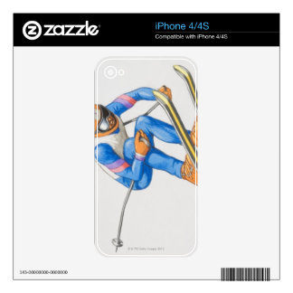 Skier Performing Jump Decals For The iPhone 4