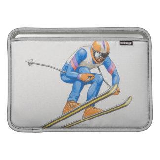 Skier Performing Jump MacBook Air Sleeve