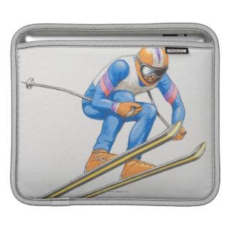 Skier Performing Jump iPad Sleeve