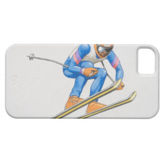 Skier Performing Jump iPhone SE/5/5s Case