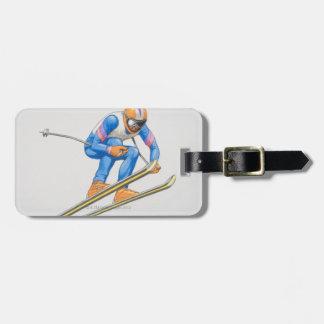 Skier Performing Jump Luggage Tag