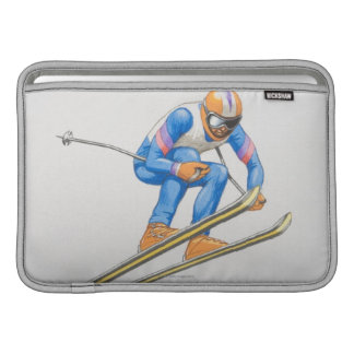 Skier Performing Jump MacBook Air Sleeve