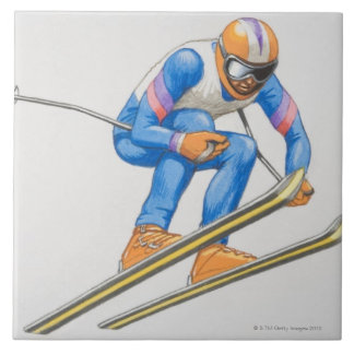 Skier Performing Jump Tile