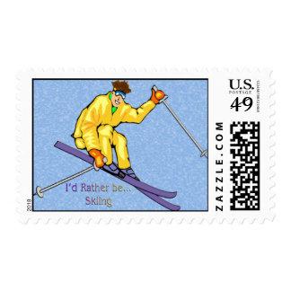 Skier Postage