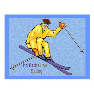 Skier Post Cards