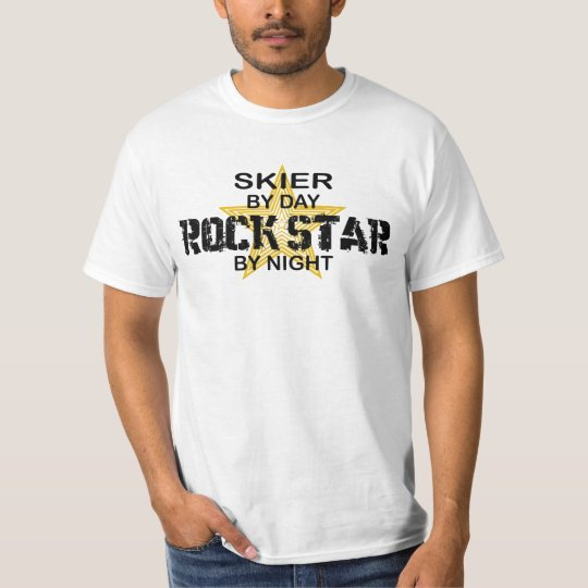 Skier Rock Star by Night T-Shirt