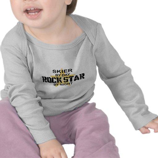 Skier Rock Star by Night Tshirt
