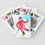 Skier Sport Illustration Bicycle Playing Cards