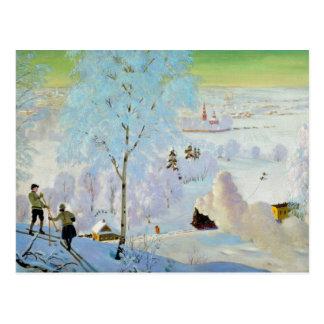 Skiers 1919 postcard