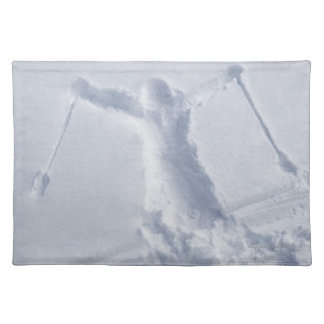 Skiers 2 cloth place mat