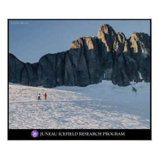 Skiers by the Storm Range on the Juneau Icefield Print