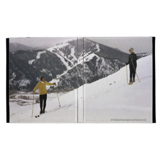 Skiers on the Back Side of Dollar Mountain iPad Folio Cover