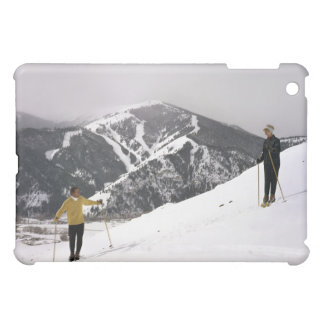 Skiers on the Back Side of Dollar Mountain Case For The iPad Mini