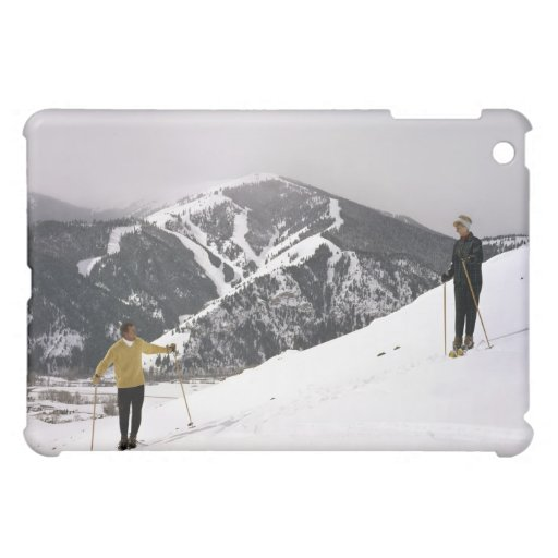 Skiers on the Back Side of Dollar Mountain Cover For The iPad Mini