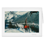Skiers on the ChairliftSnoqualmie Pass, WA Card