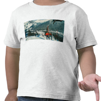 Skiers on the ChairliftSnoqualmie Pass, WA Tee Shirts