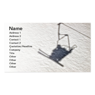 Skiers shadow Double-Sided standard business cards (Pack of 100)