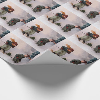 Skiers -  Village Wrapping Wrapping Paper