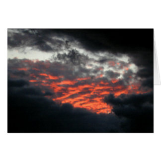 Skies Afire Sunset - Note Card 1