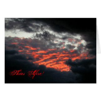 Skies Afire Sunset - Note Card 2