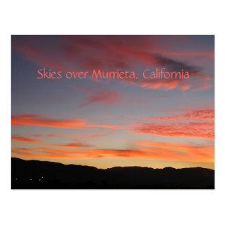 Skies over Murrieta, CA Postcard