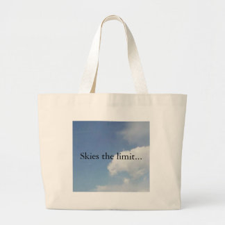 Skies the limit... canvas bag