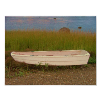 skiff in the grass grays beach rocky nook kingston poster