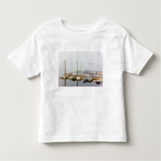 Skiffs and morning fog in Southwest Harbor, Tshirt