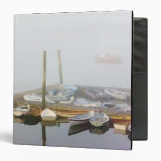 Skiffs and morning fog in Southwest Harbor, Vinyl Binders