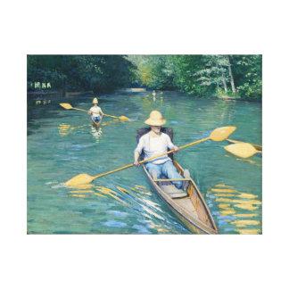 Skiffs Canvas Print