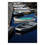 Skiffs del barco de la langosta tarjeta de felicitación